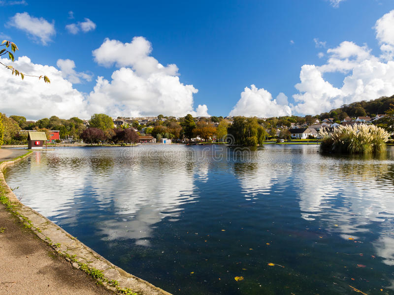 Lago boating di Helston immagine stock