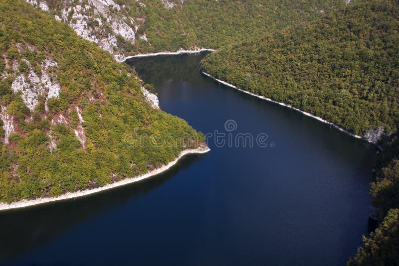 Lago Bocac no rio de Vrbas foto de stock royalty free