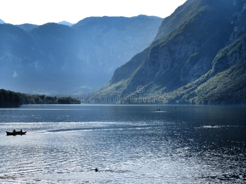 Lago Bohinj fotografia de stock royalty free