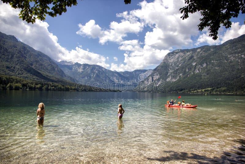Lago Bohinj foto de stock