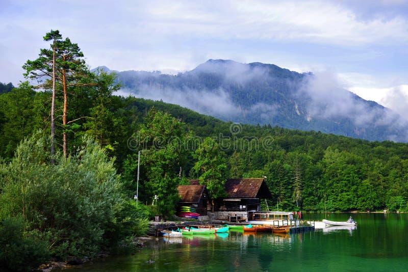 Lago Bohinj en el parque nacional de Triglav imagen de archivo libre de regalías