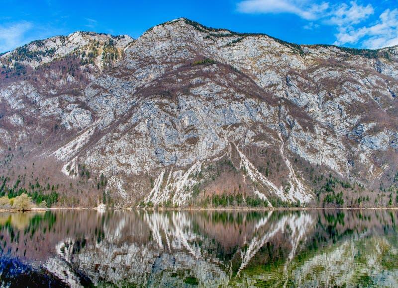 Lago Bohinj no parque nacional de Triglav, Eslov?nia fotografia de stock royalty free