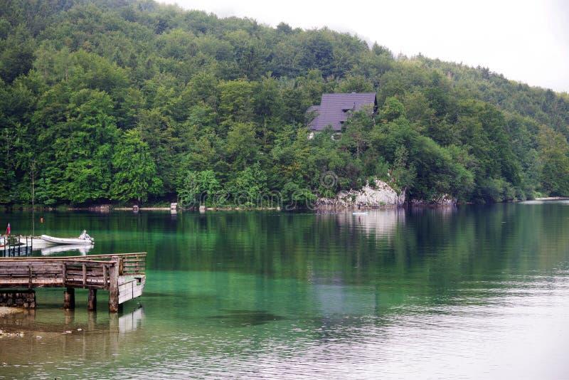 Lago Bohinj no parque nacional de Triglav foto de stock royalty free