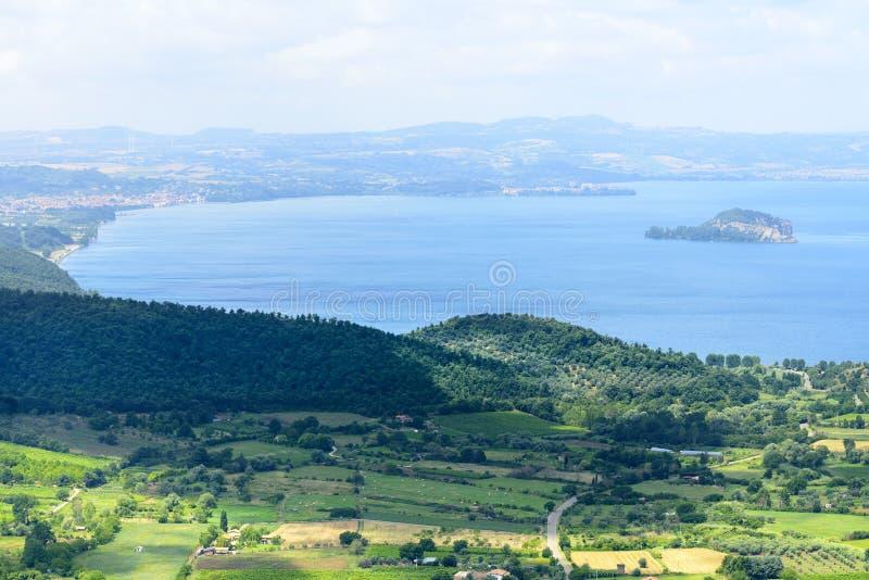 Lago Bolsena da Montefiascone immagine stock libera da diritti