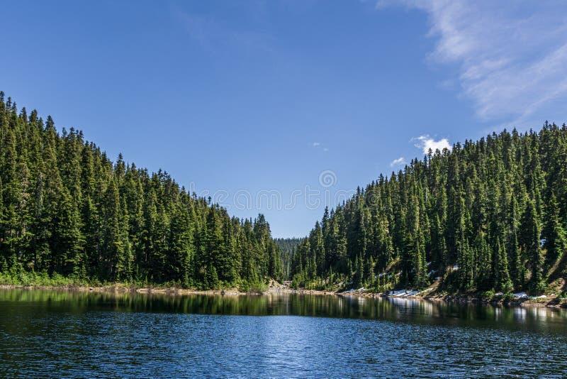 lago bonito barrier no Columbia Britânica provincial Canadá do parque de Garibaldi das montanhas imagem de stock royalty free