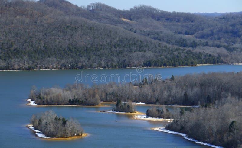 Lago bonito da casca do cordell no inverno imagens de stock