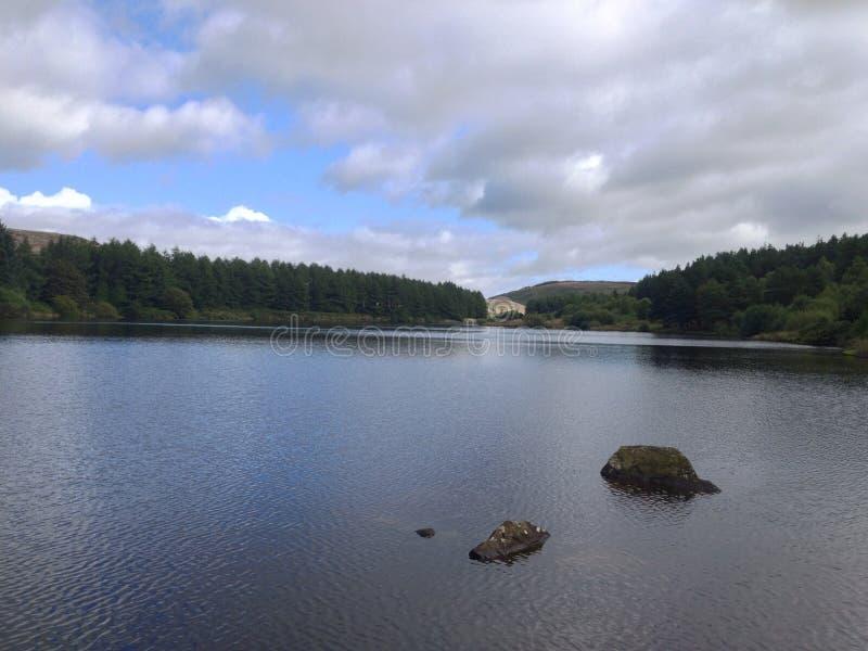 Lago bonito no verão foto de stock