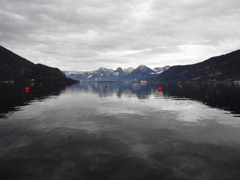 Lago bonito St Gilgen Áustria fotos de stock