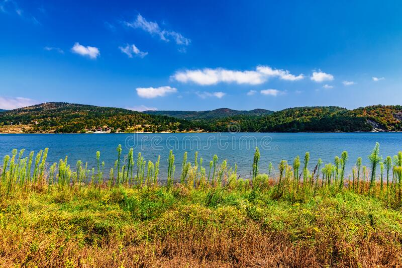 Lago Bor no leste da Sérvia imagens de stock