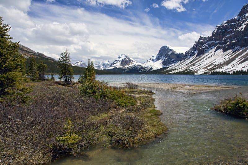 Lago bow immagini stock
