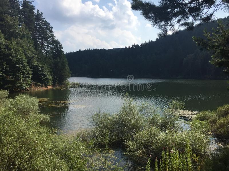 Lago Bozcaarmut in Bilecik Turchia immagine stock