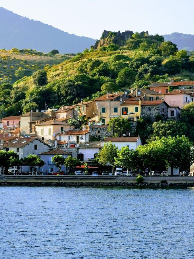 Lago Bracciano foto de archivo libre de regalías