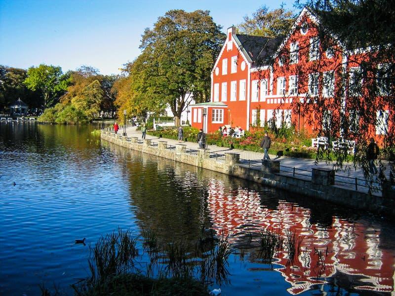 Lago Breiavatnet, Stavanger, Norvegia immagini stock