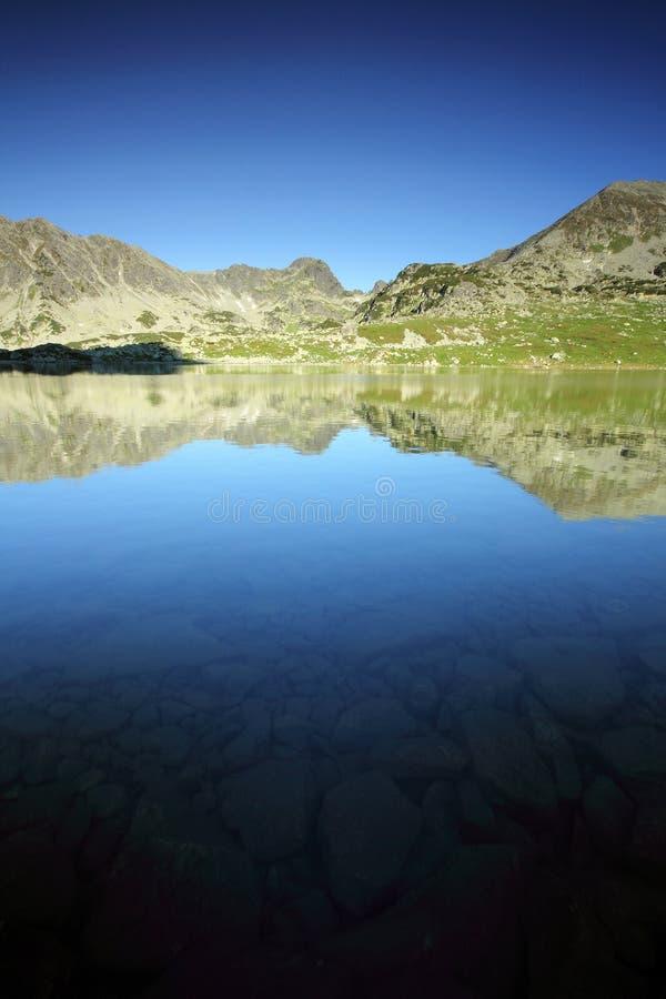 Lago Bucura - parque nacional de Retezat, Romania fotografia de stock royalty free