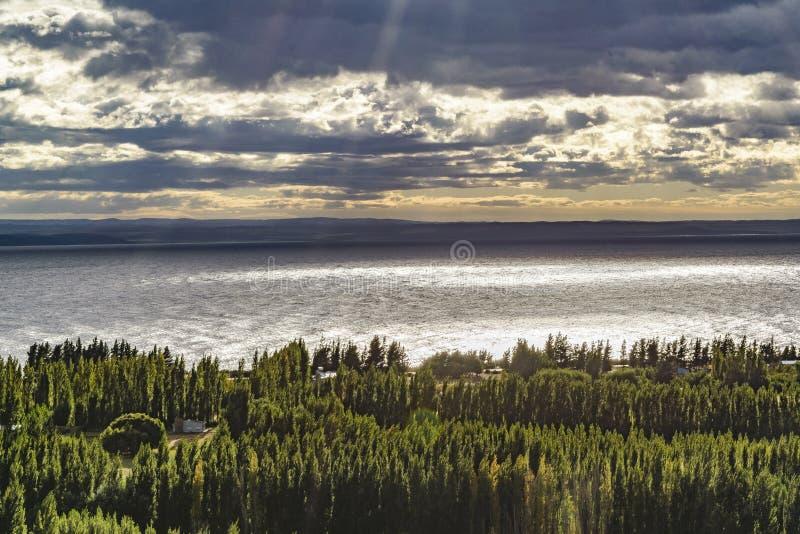 Lago buenos Aires, Los Antiguos, Argentina fotografia de stock