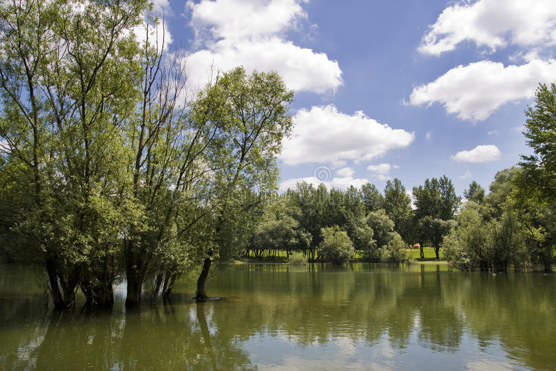 Lago Bundek fotografia stock