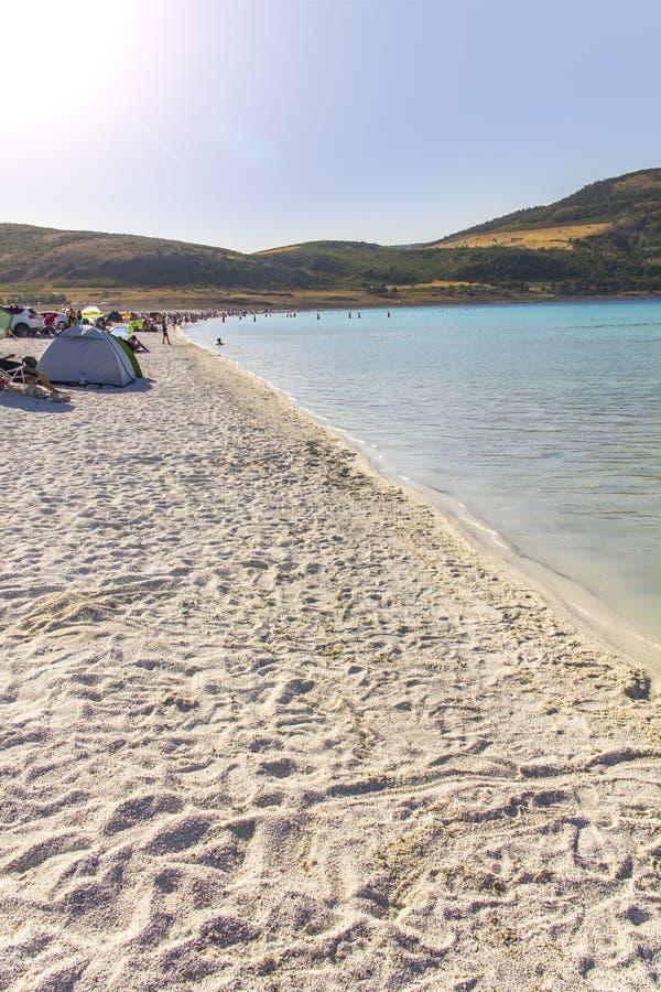 Lago Burdur Turquia Salda fotografia de stock