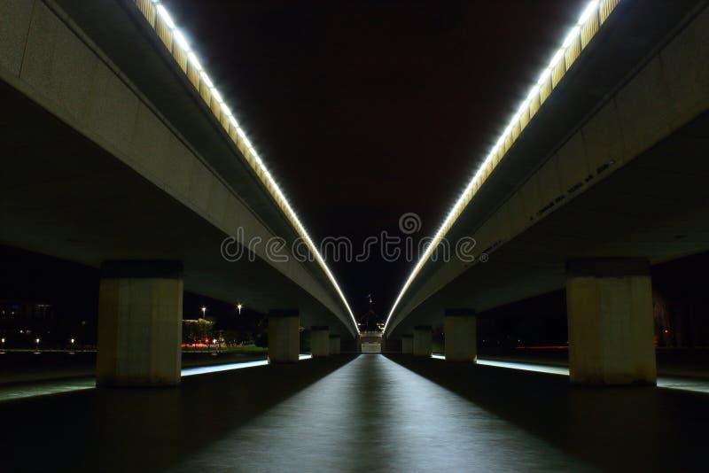Lago Burley Griffin Bridges Canberra immagine stock