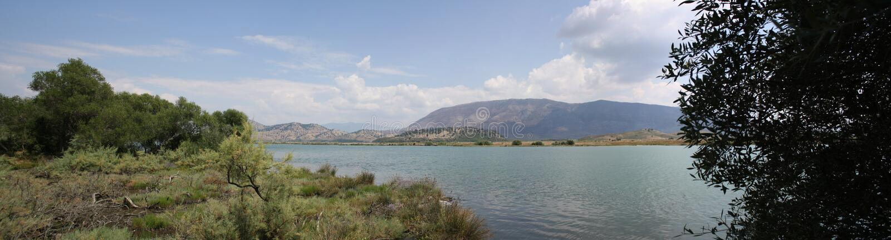 Lago Butrint, paisagem de Albânia imagem de stock