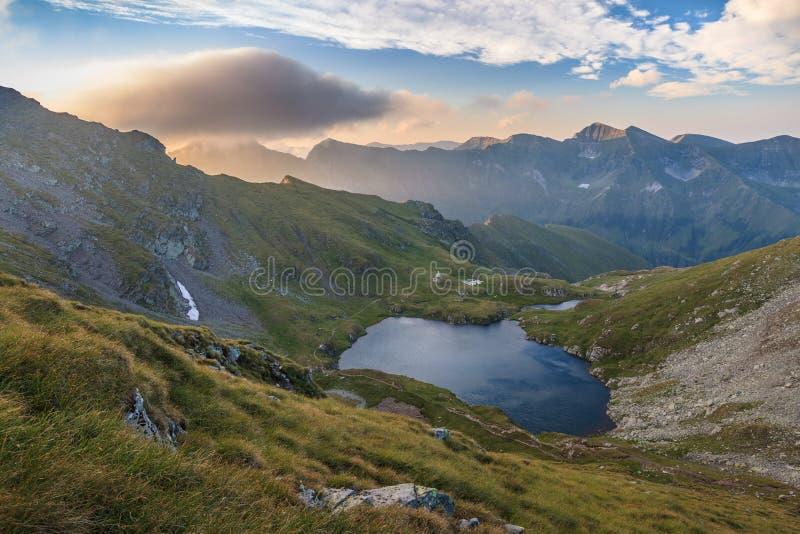 Lago capra Montanhas de Fagaras, Romênia imagens de stock