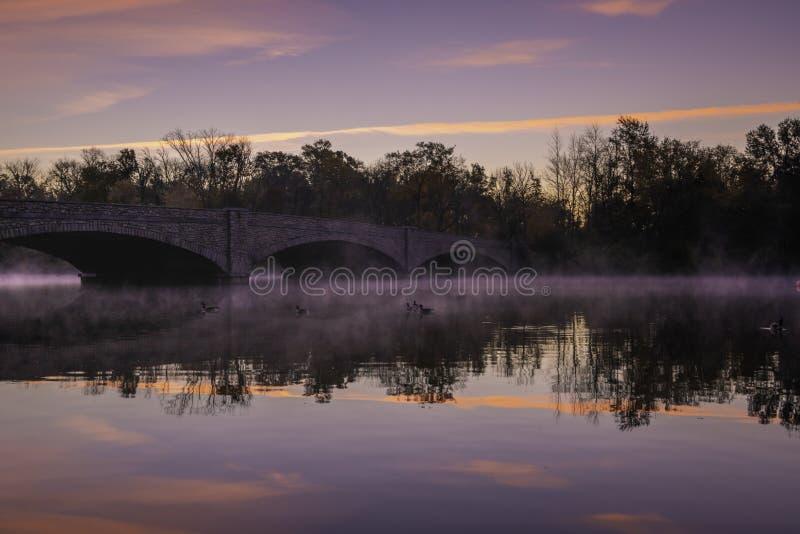 Lago Carnegie em Princeton foto de stock