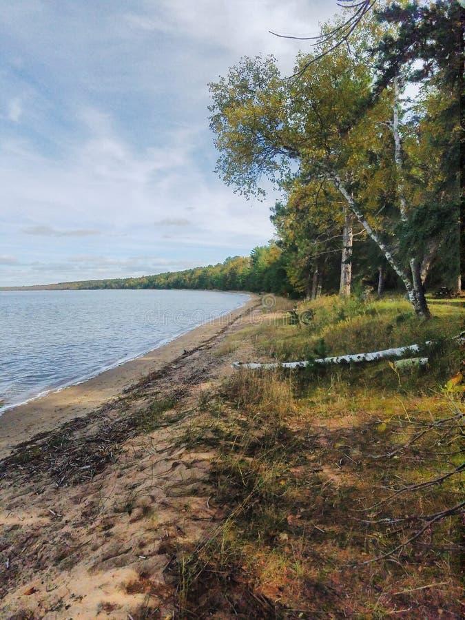 Lago Cass en el bosque del Estado de Chippewa, Minnesota imagen de archivo libre de regalías