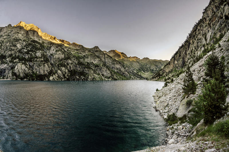 Lago Cavallers immagine stock