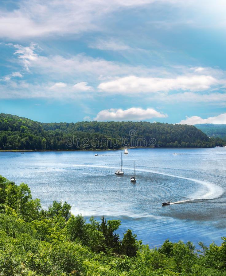 Lago Champlain fotografía de archivo libre de regalías