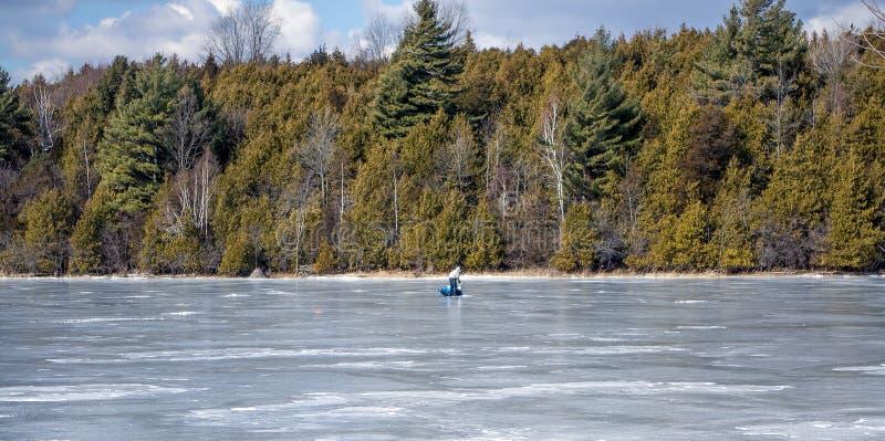 Lago Champlain congelado foto de archivo