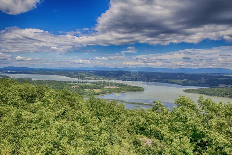 Lago Champlain del desafío del soporte imagen de archivo