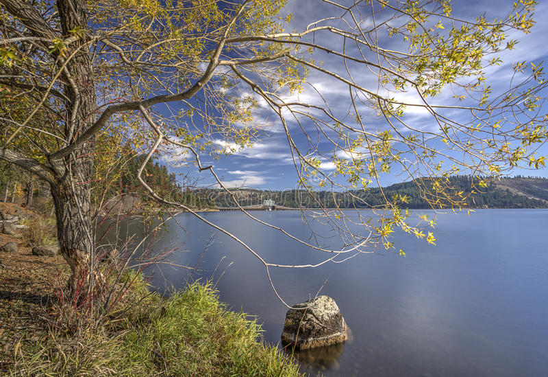 Lago Chatcolet en parque de estado de Heyburn foto de archivo libre de regalías