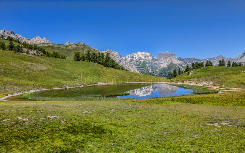 Lago Chavillon fotografie stock