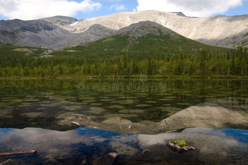 Lago chiazzato fotografia stock