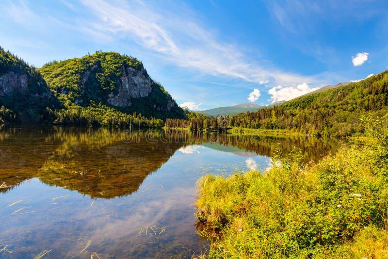 Lago Chitina fotografie stock libere da diritti