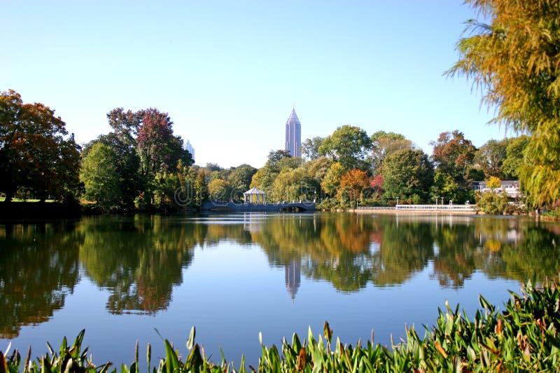 Lago city imagen de archivo