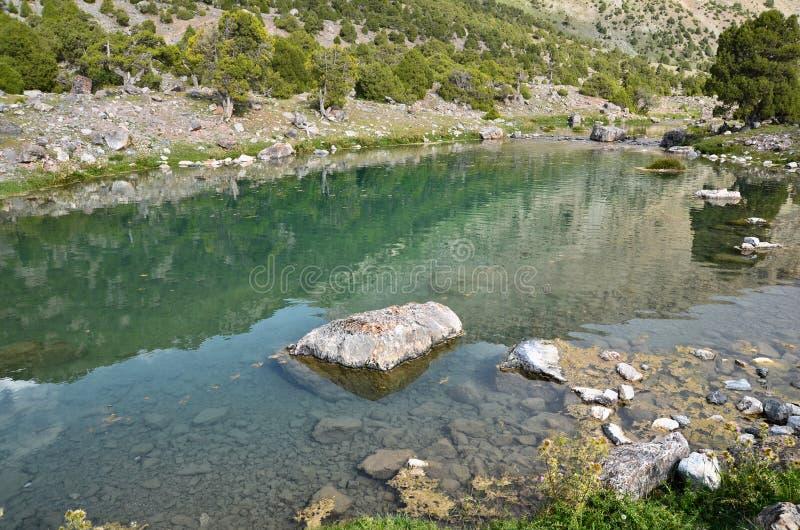 Lago claro de la montaña fotografía de archivo libre de regalías