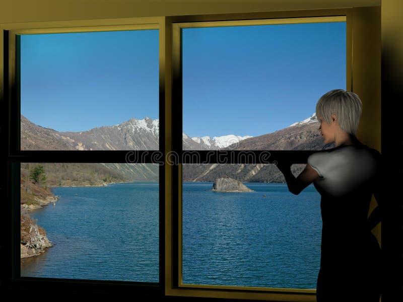 Lago Coldwater imagem de stock