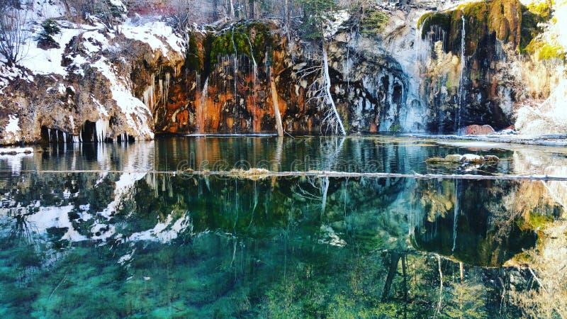Lago colgante fotografía de archivo