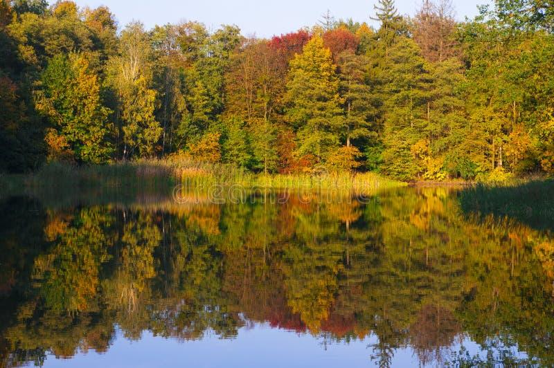 Lago coloreado otoño de la montaña imágenes de archivo libres de regalías