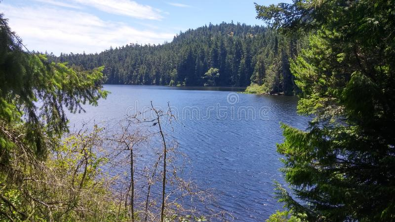 Lago in Columbia Britannica fotografia stock