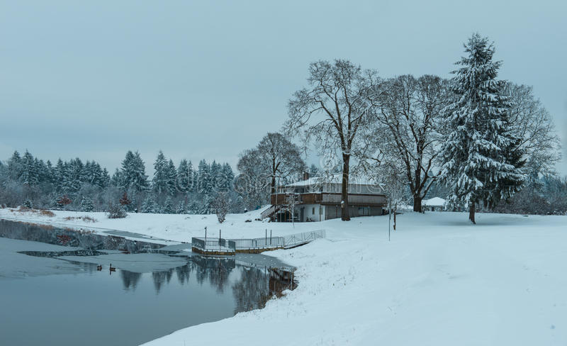 Lago community, wa Lacey fotografie stock libere da diritti