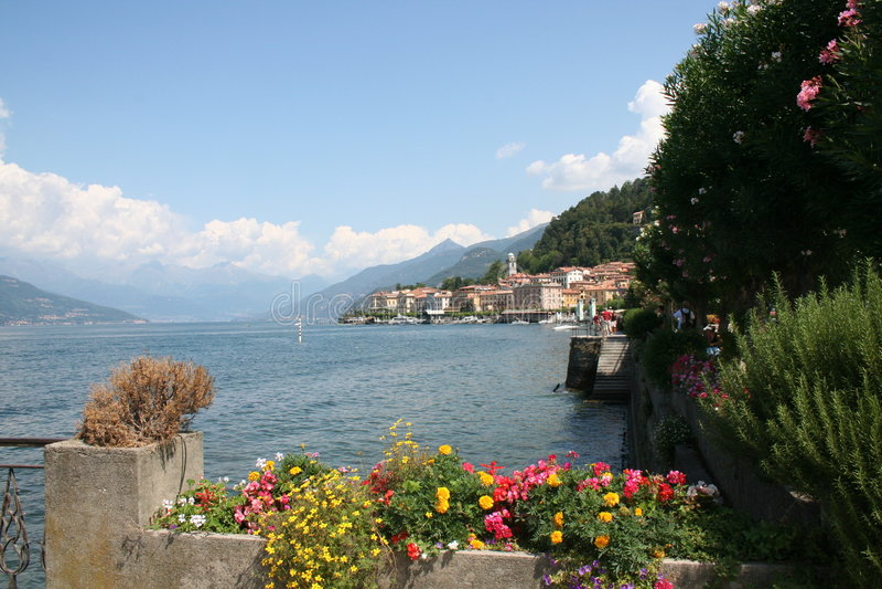 Lago Como bellagio imagen de archivo libre de regalías
