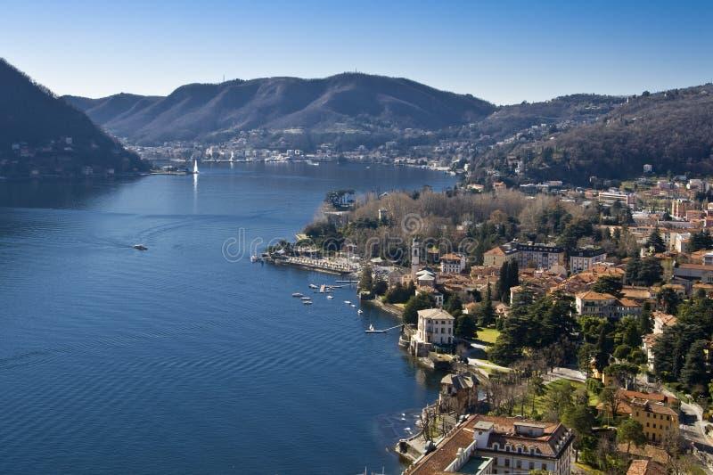 Lago Como - Cernobbio - d'Este della villa - paesaggio fotografia stock libera da diritti
