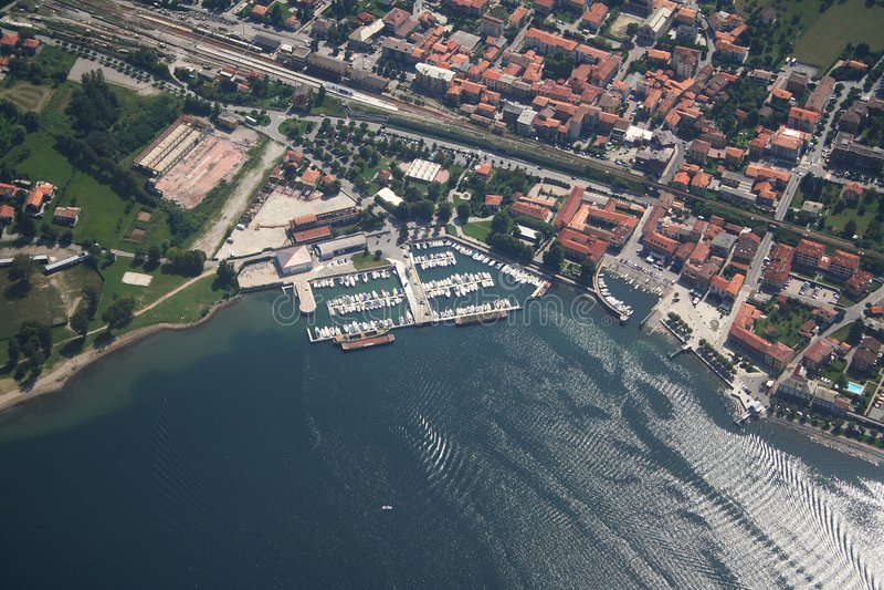 Lago Como - Colico foto de stock