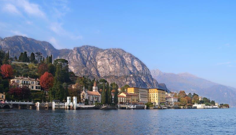 Lago Como de un barco fotografía de archivo