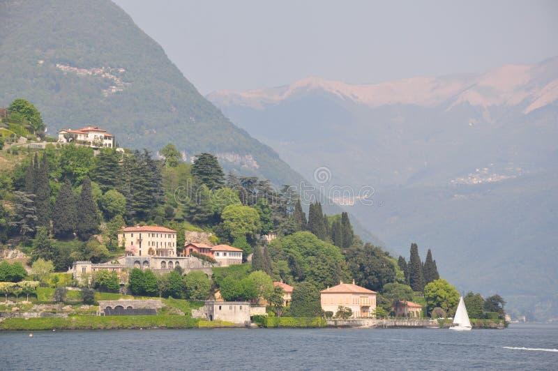 Lago Como del chalet de la boda de Bellagio Lario fotos de archivo