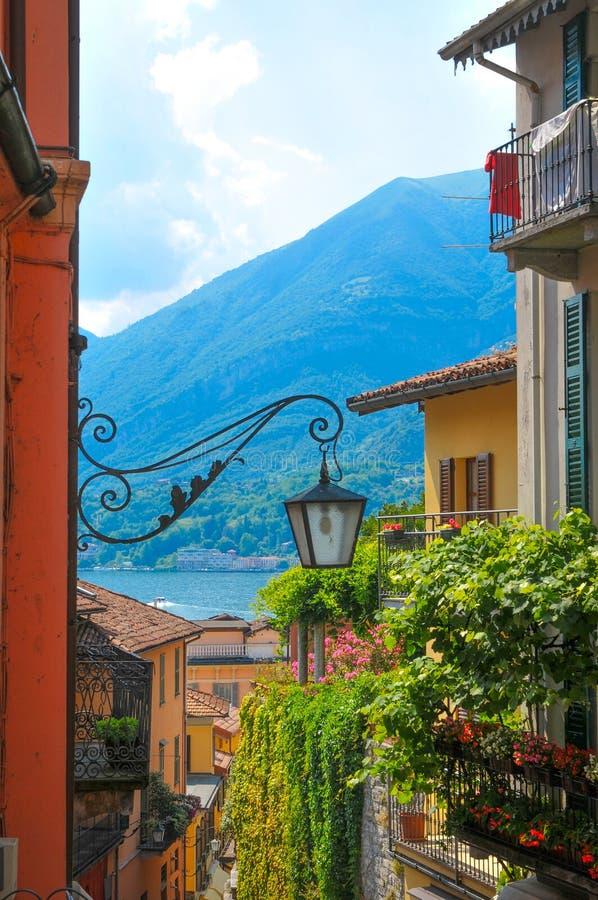 Lago Como en Italia imagen de archivo libre de regalías