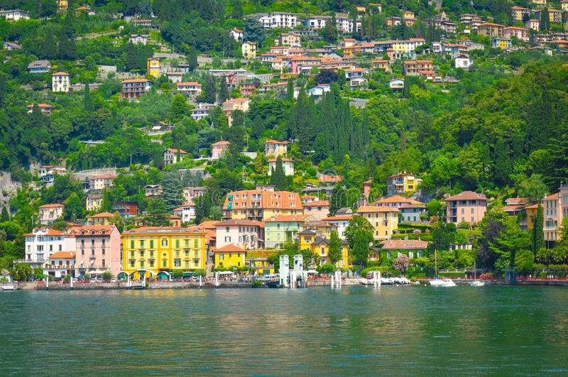 Lago Como en Italia fotografía de archivo