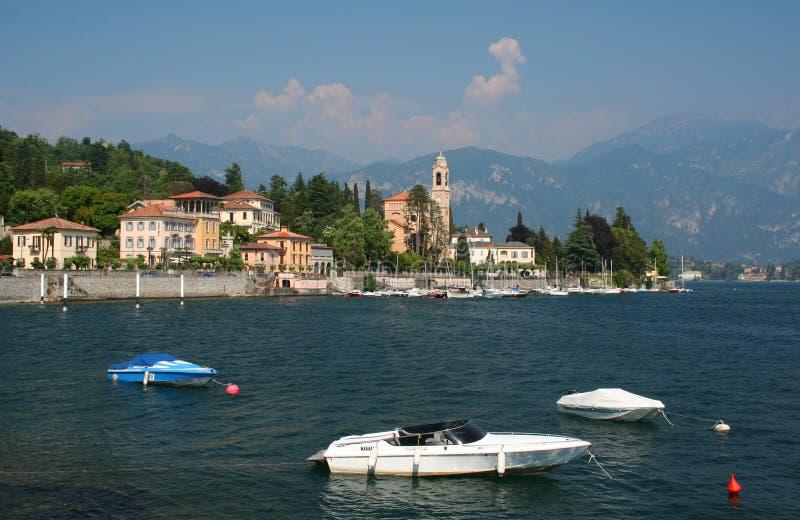Lago Como en Italia norteña foto de archivo