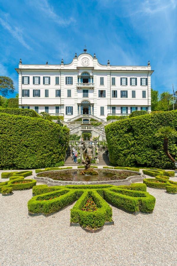 Lago Como, Lombardía, Italia, el 11 de mayo de 2012 Chalet Carlotta Tremezzo imagen de archivo